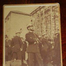 Militaria: ANTIGUA FOTOGRAFIA ALBUMINA DE MILITARES ESPAÑOLES, MIDE 11,9 X 9 CMS. NO CONSTA FOTOGRAFO.. Lote 179227800
