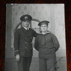 Militaria: FOTO POSTAL DE MARINOS, CON LEPANTO DE LA REPUBLICA, FOTO MARGALEF, CADIZ, NO CIRCULADA.. Lote 179236530