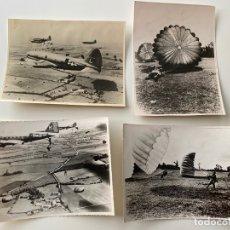 Militaria: 2 APRIL 1948 PARACHUTISTE 2 REP , 4 FOTOGRAFÍAS ORIGINALES , GUERRA . Lote 179315491