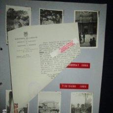 Militaria: DOCUMENTO Y FOTOS MONSERRAT TIBIDABO DE PILOTO AVIACION JEFE ESTADO MAYOR EN GUERRA CIVIL. Lote 180096202