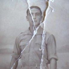 Militaria: FOTOGRAFÍA SOLDADO REGULARES. MELILLA 1939. Lote 180196637