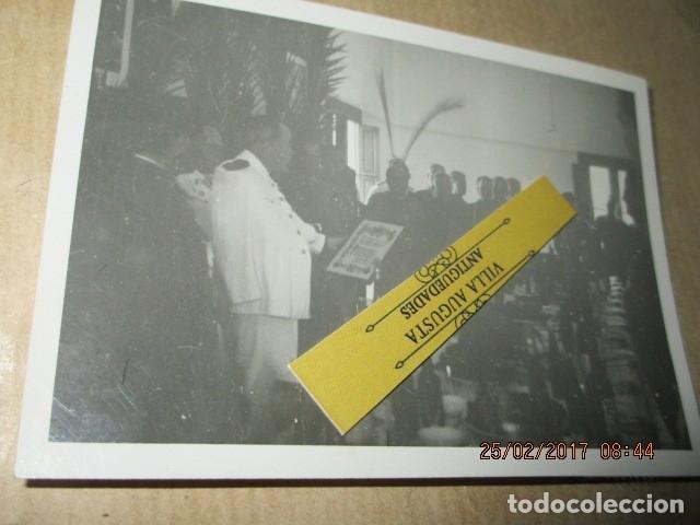 FOTO INEDITA DISCURSO DE MANDOS LEGION SOBRE FINAL GUERRA CIVIL 19 - V -1939 ESPERANDO (Militar - Fotografía Militar - Guerra Civil Española)