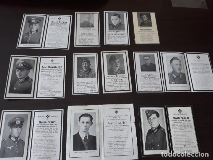 LOTE DE ESQUELAS CARTAS DE LA MUERTE, ALEMANAS 2 GUERRA MUNDIAL (Militar - Fotografía Militar - II Guerra Mundial)