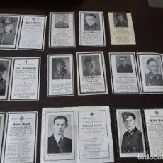 Militaria: LOTE DE ESQUELAS CARTAS DE LA MUERTE, ALEMANAS 2 GUERRA MUNDIAL. Lote 180471123