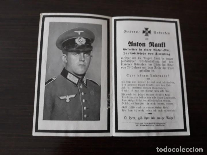 Militaria: Lote de esquelas cartas de la muerte, alemanas 2 guerra mundial - Foto 3 - 180471123