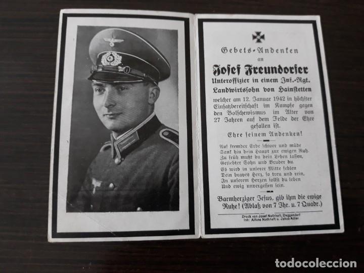 Militaria: Lote de esquelas cartas de la muerte, alemanas 2 guerra mundial - Foto 5 - 180471123