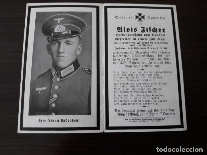 Militaria: Lote de esquelas cartas de la muerte, alemanas 2 guerra mundial - Foto 6 - 180471123