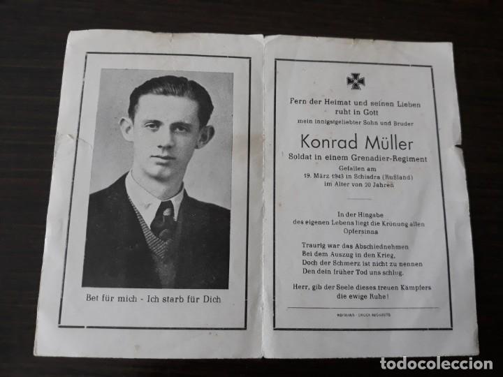 Militaria: Lote de esquelas cartas de la muerte, alemanas 2 guerra mundial - Foto 7 - 180471123