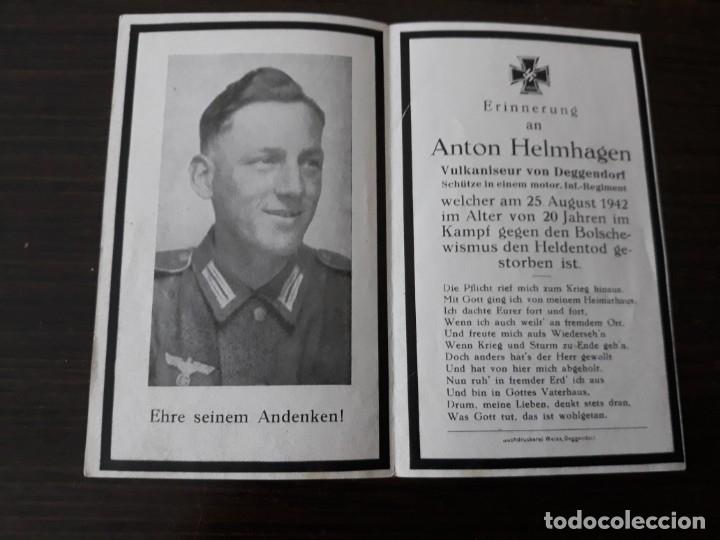 Militaria: Lote de esquelas cartas de la muerte, alemanas 2 guerra mundial - Foto 8 - 180471123