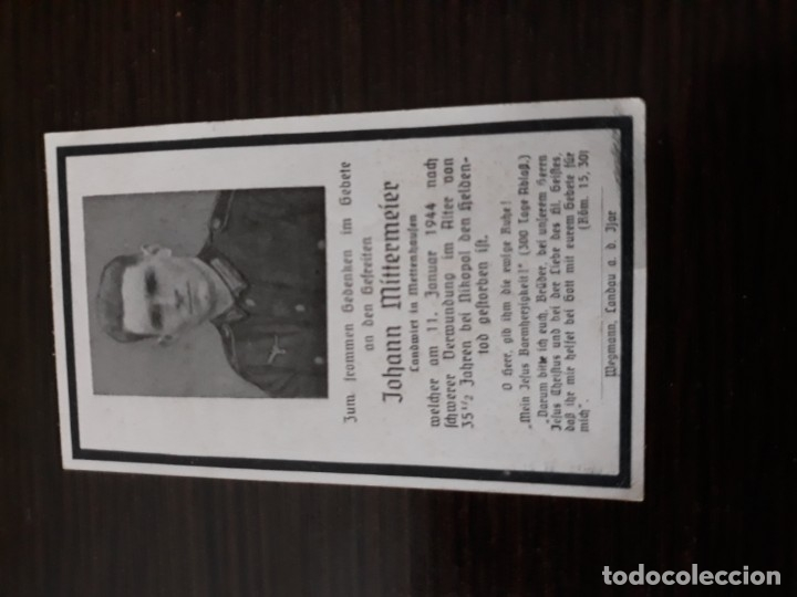 Militaria: Lote de esquelas cartas de la muerte, alemanas 2 guerra mundial - Foto 10 - 180471123