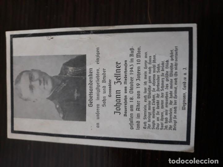 Militaria: Lote de esquelas cartas de la muerte, alemanas 2 guerra mundial - Foto 13 - 180471123