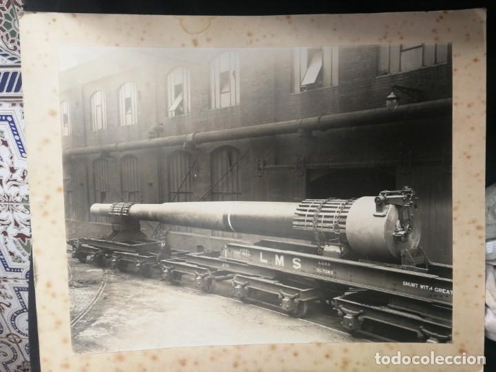 CAÑÓN DE FERROCARRIL (Militar - Fotografía Militar - II Guerra Mundial)