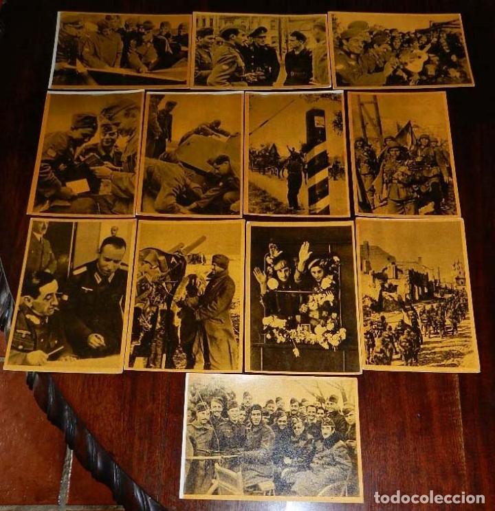 SERIE I COMPLETA CON 12 POSTALES DE LA DIVISIÓN AZUL, LA CRUZADA EUROPEA CONTRA EL BOLCHEVISMO, MUÑO (Militar - Fotografía Militar - II Guerra Mundial)