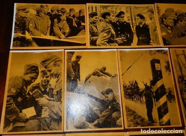 Militaria: Serie I completa con 12 Postales de La división azul, La cruzada europea contra el bolchevismo, Muño - Foto 2 - 181000178