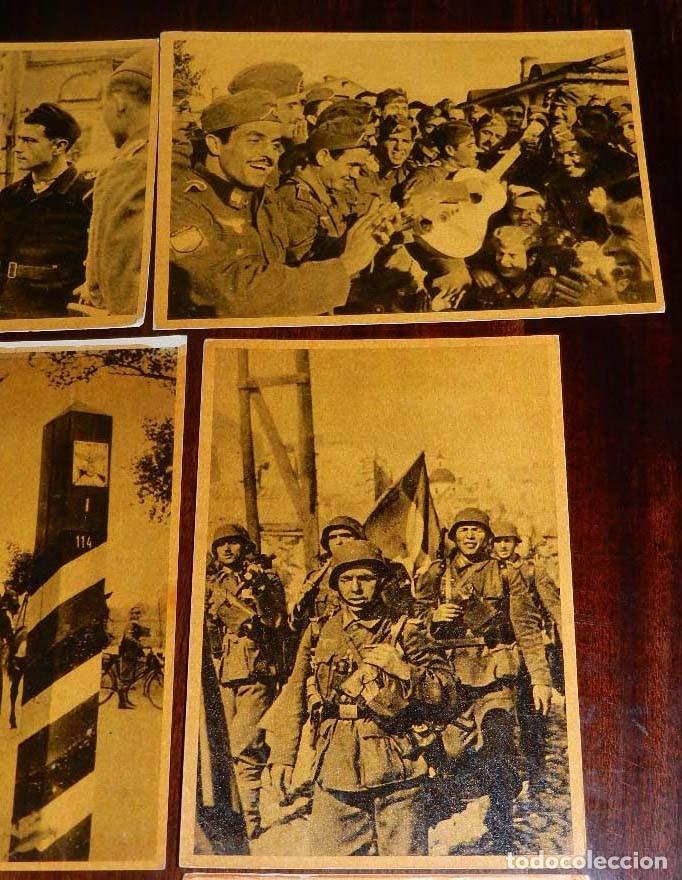 Militaria: Serie I completa con 12 Postales de La división azul, La cruzada europea contra el bolchevismo, Muño - Foto 4 - 181000178