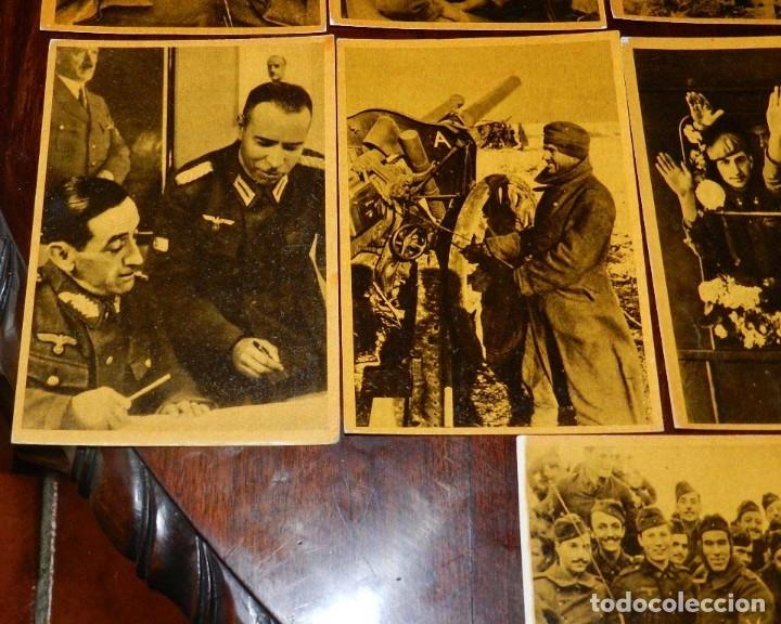 Militaria: Serie I completa con 12 Postales de La división azul, La cruzada europea contra el bolchevismo, Muño - Foto 5 - 181000178