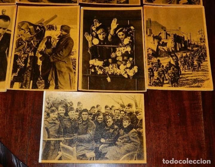 Militaria: Serie I completa con 12 Postales de La división azul, La cruzada europea contra el bolchevismo, Muño - Foto 6 - 181000178