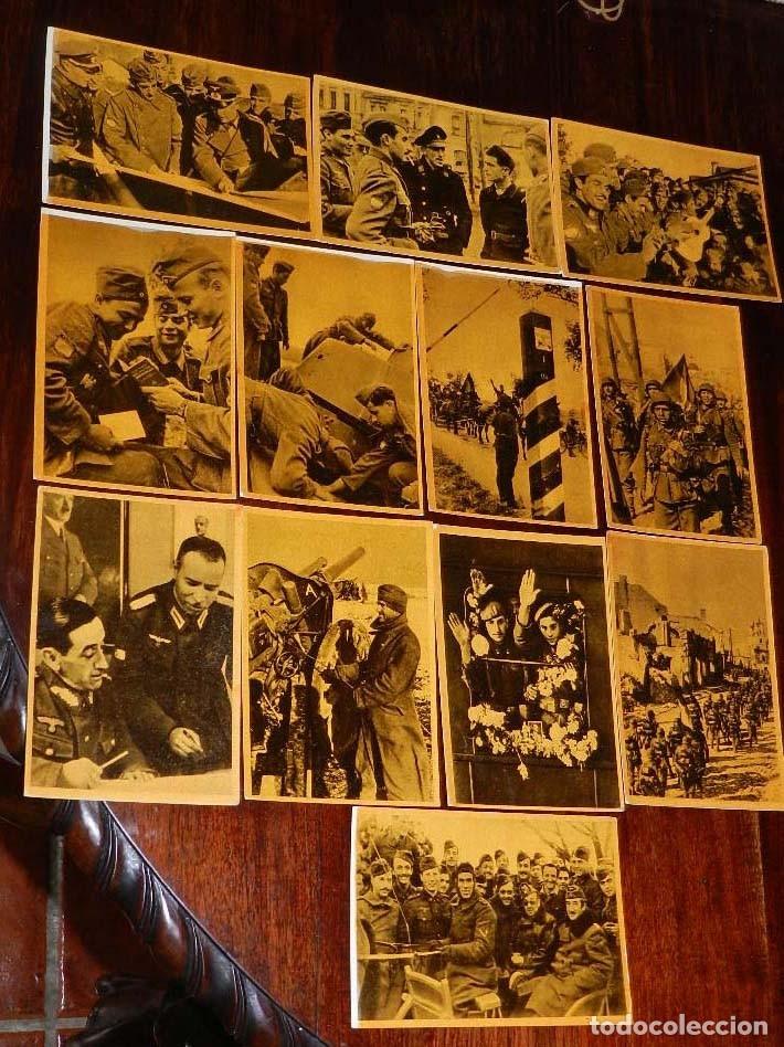 Militaria: Serie I completa con 12 Postales de La división azul, La cruzada europea contra el bolchevismo, Muño - Foto 7 - 181000178