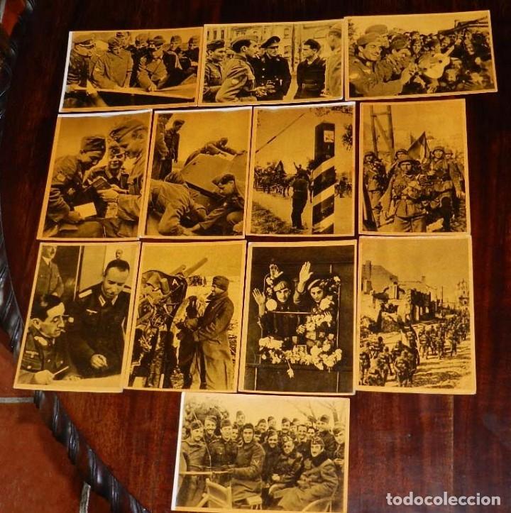 Militaria: Serie I completa con 12 Postales de La división azul, La cruzada europea contra el bolchevismo, Muño - Foto 8 - 181000178