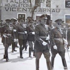 Militaria: FOTOGRAFÍA OFICIALES DEL EJÉRCITO ESPAÑOL. CASTELLÓN. Lote 181140155