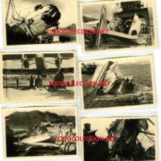 Militaria: LOTE FOTOS AVIACION LEGIÓN CONDOR AVION HE-59. Lote 181147626