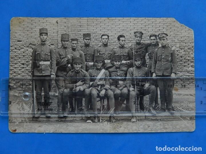 FOTOGRAFÍA SOLDADOS EJÉRCITO ESPAÑOL. INGENIEROS. (Militar - Fotografía Militar - Otros)