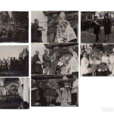 Militaria: CEUTA.- BILAUREADO VARELA. CORONACIÓN DE LA VIRGEN DE ÁFRICA. MONTAJE FOTOGRAFICO. 8 FOTOGRAFÍAS.. Lote 181773265