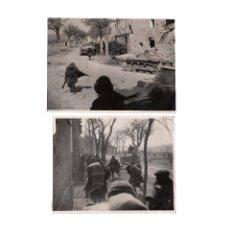 Militaria: SALAMANCA.- 2 FOTOGRAFÍAS. FOTO CALVACHE. GUERRA CIVIL. 22X17. APROX.. Lote 181779355