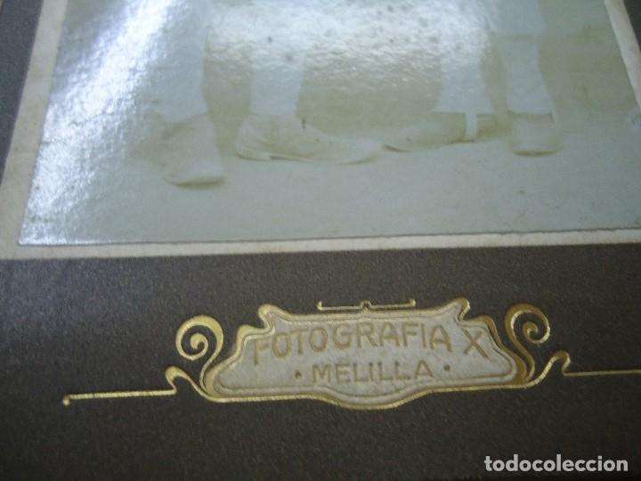 Militaria: ANTIGUA FOTOGRAFIA DE 2 MILITARES EJERCITO ESPAÑOL EN MELILLA . FOTOGRAFIA X - MIDE 14 X 8,5 CMS. - Foto 3 - 181789387