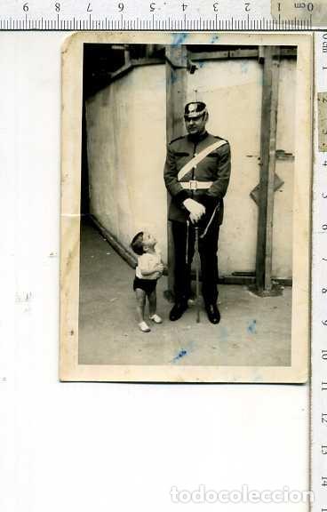 FOTOGRAFIA GUARDIA URBANA CON CASO DE PINCHO Y SABLE (Militar - Fotografía Militar - Otros)