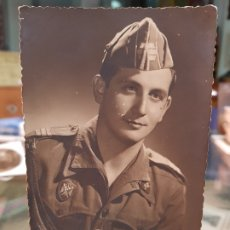 Militaria: ANTIGUA FOTOGRAFIA MILITAR RETRATO ORGA MURCIA EJERCITO ESPAÑOL 1948. Lote 182088313
