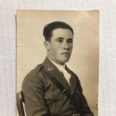 Militaria: MILITAR DE GUERRA ANGEL LAZARO SOLDADO COMANTDANTE INTENDENCIA FOTO UNIFORME GUERRA PCIOS 1900. Lote 182147883