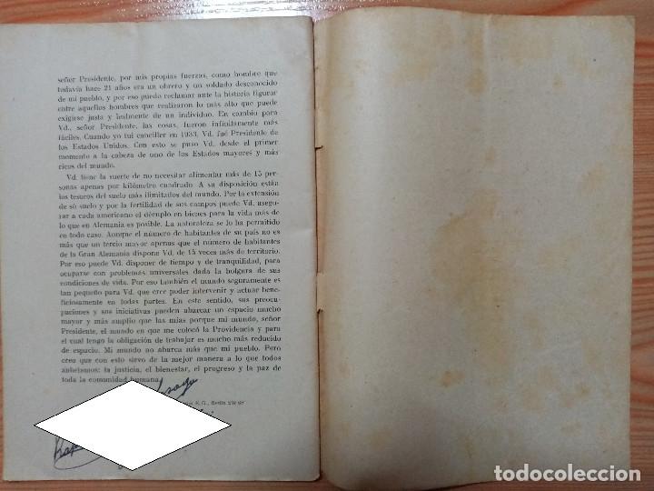 Militaria: DISCURSO PRONUNCIADO POR EL FUHRER Y CANCILLER ADOLF HITLER EN EL REICHSTAG 1939 - Foto 4 - 182319668