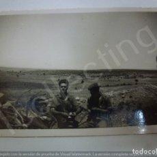 Militaria: FOTOGRAFÍA ORIGINAL. GUERRA CIVIL. SOLDADOS. SELLO FERNÁNDEZ Y HERRERO MÁLAGA. (6,8 CM X 4,4 CM). Lote 182382458