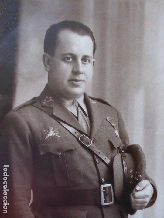 Militaria: Fotografía capitán carrista del ejército español. 1928 - Foto 3 - 182408331
