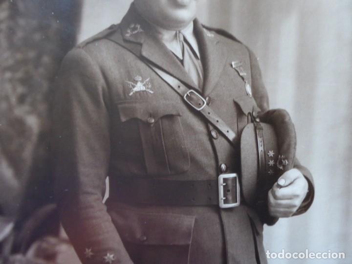 Militaria: Fotografía capitán carrista del ejército español. 1928 - Foto 4 - 182408331