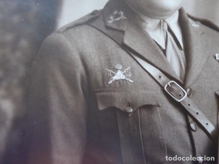Militaria: Fotografía capitán carrista del ejército español. 1928 - Foto 5 - 182408331