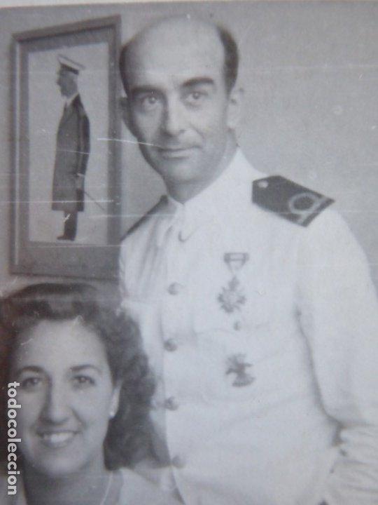 FOTOGRAFÍA ALFÉREZ DE NAVÍO ARMADA. MEDALLA ORDEN CIVIL DE LA BENEFICENCIA (Militar - Fotografía Militar - Otros)