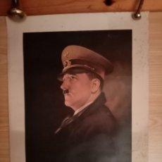 Militaria: ADOLF HITLER. RETRATO POR HUGO LEHMANN. LÁMINA EDITADA EN ALEMANIA AÑOS 40. Lote 182415006