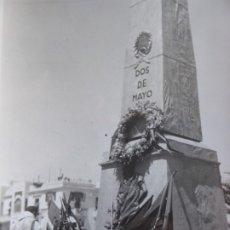 Militaria: FOTOGRAFÍA MISA MONUMENTO 2 DE MAYO. LARACHE 1937. Lote 182415408