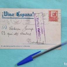 Militaria: LOGROÑO..CENSURA MILITAR GUERRA CIVIL..1937. Lote 182457455