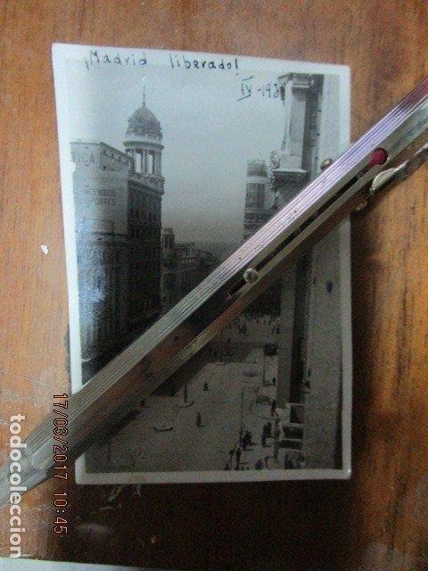 Militaria: DESPUES DE BOMBARDEOS PALACIO CORTES MADRID LIBERADO ! GRAN VIA EN PLENA GUERRA CIVIL IV 1939 - Foto 8 - 119254699
