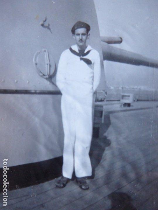 FOTOGRAFÍA MARINERO CRUCERO CANARIAS. GUERRA CIVIL (Militar - Fotografía Militar - Guerra Civil Española)