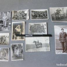 Militaria: LOTE DE FOTOGRAFÍAS DE LA MILI EN MARINA Y ARTILLERÍA - AÑOS 50. Lote 182741326