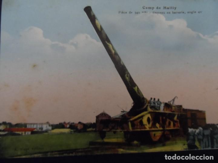 PIEZA DE 340 MM EN BATERIA EN CAMPO DE MAILLY. REPUBLICA FRANCESA. AÑOS 1914-18 (Militar - Fotografía Militar - I Guerra Mundial)