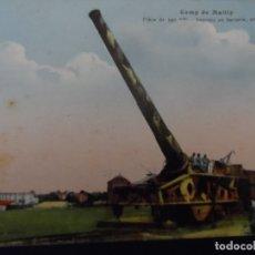 Militaria: PIEZA DE 340 MM EN BATERIA EN CAMPO DE MAILLY. REPUBLICA FRANCESA. AÑOS 1914-18. Lote 182786390