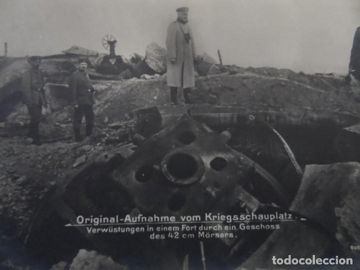 DEVASTACION EN UN FUERTE A TRAVES DE UN PROYECTIL MORTERO DE 42CM. II REICH. AÑOS 1914-18 (Militar - Fotografía Militar - I Guerra Mundial)