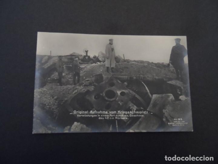 Militaria: DEVASTACION EN UN FUERTE A TRAVES DE UN PROYECTIL MORTERO DE 42CM. II REICH. AÑOS 1914-18 - Foto 2 - 182787670