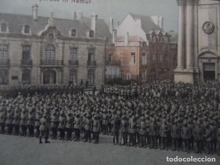 TROPAS IMPERIALES ALEMANAS EN PARADA MILITAR EN BELGRADO-NAMUR.BELGICA. AÑOS 1914-18 (Militar - Fotografía Militar - I Guerra Mundial)