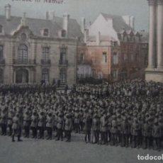 Militaria: TROPAS IMPERIALES ALEMANAS EN PARADA MILITAR EN BELGRADO-NAMUR.BELGICA. AÑOS 1914-18. Lote 182788248